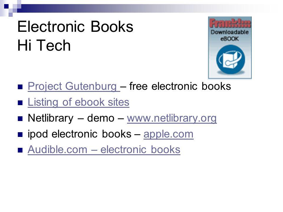 Electronic Books Hi Tech