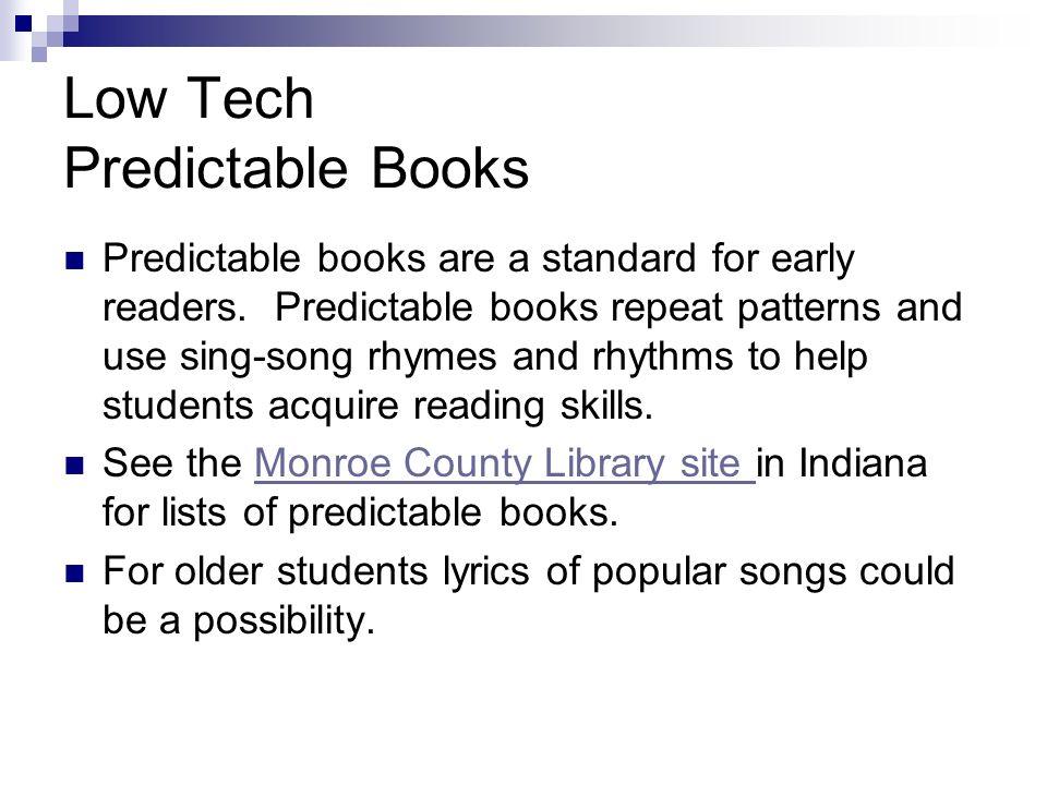 Low Tech Predictable Books