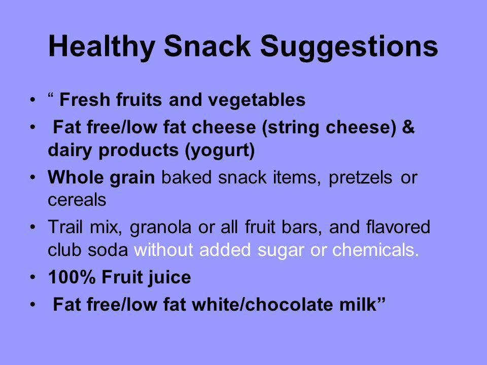 Healthy Snack Suggestions