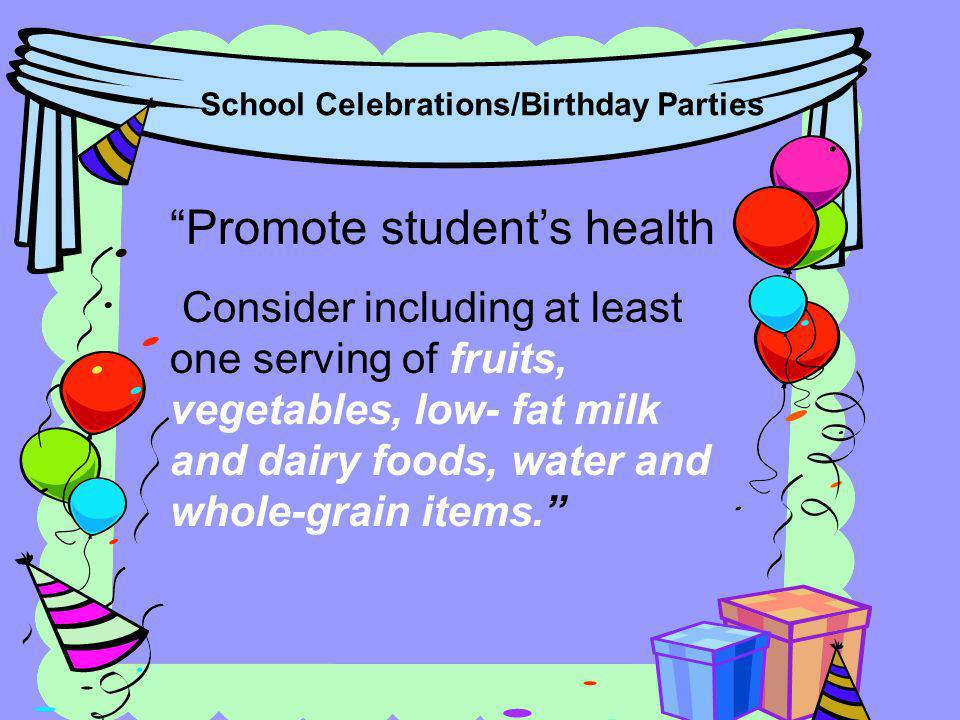 Promote student's health