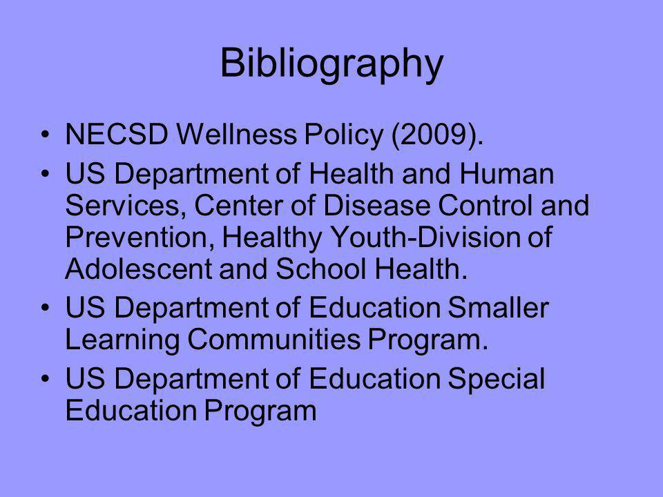 Bibliography NECSD Wellness Policy (2009).
