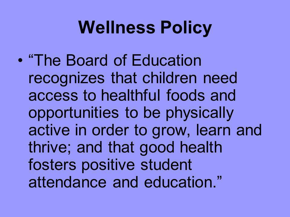 Wellness Policy