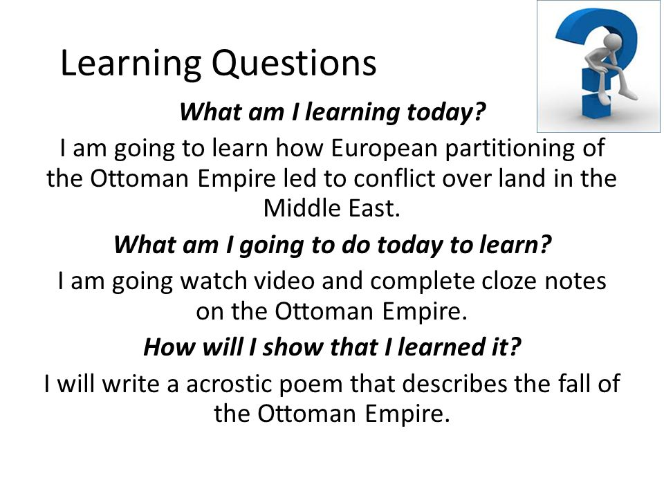 Learning Questions