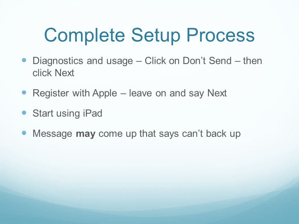 Complete Setup Process