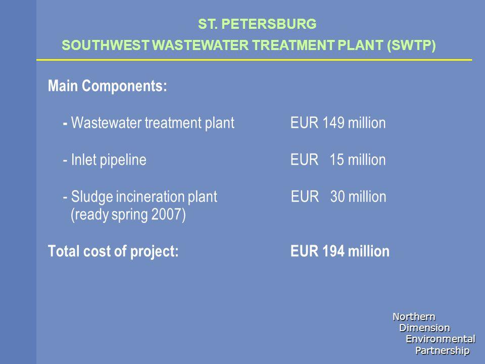 - Wastewater treatment plant EUR 149 million