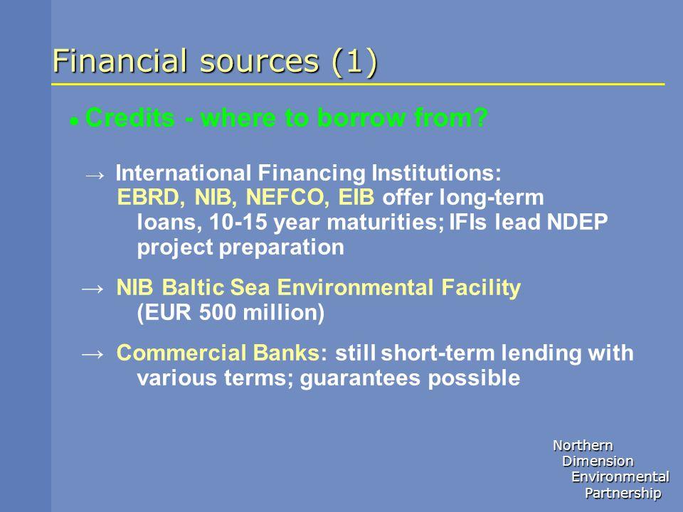 Financial sources (1)