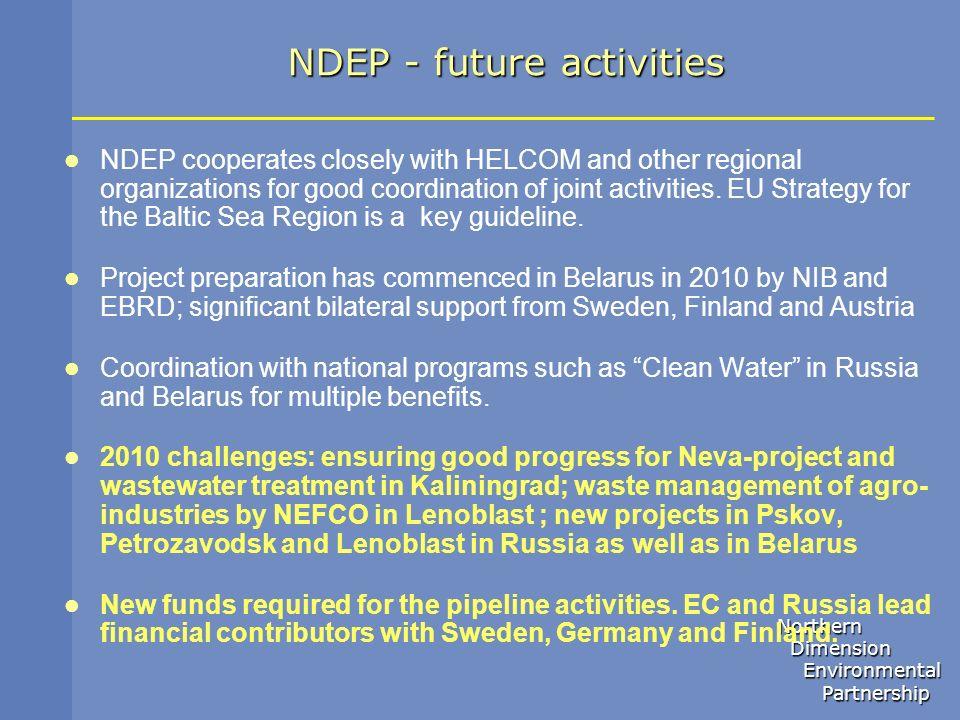 NDEP - future activities