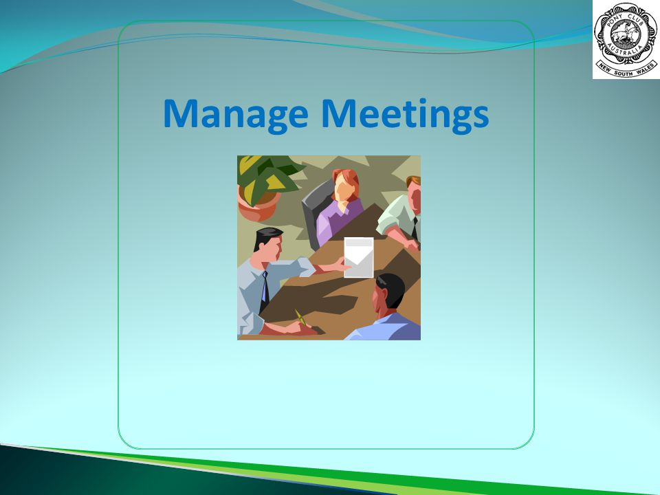 Manage Meetings