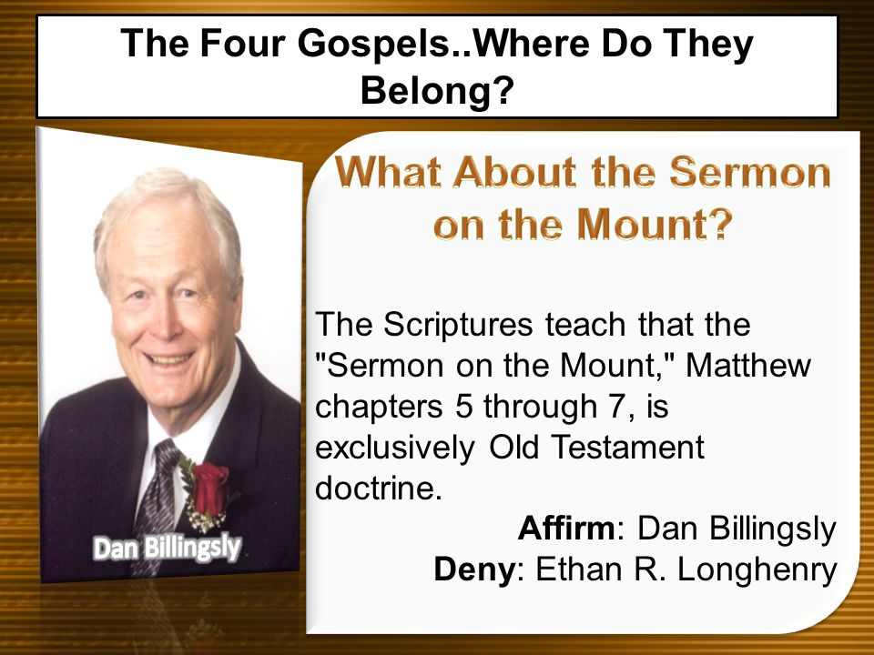 What About the Sermon on the Mount