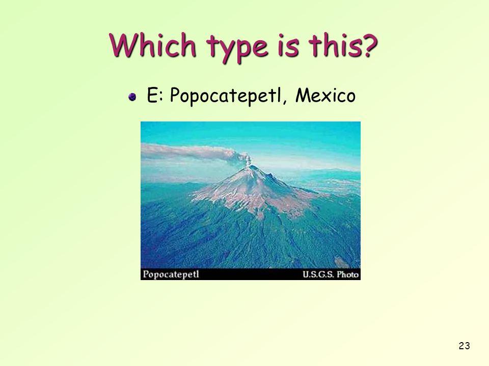 E: Popocatepetl, Mexico