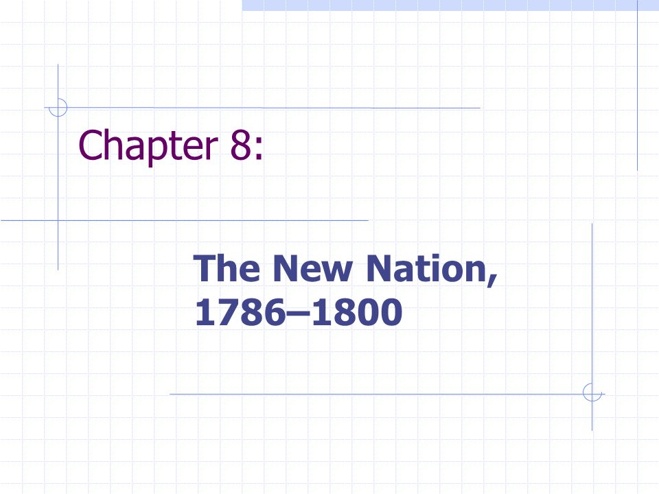 Chapter 8: The New Nation, 1786–1800