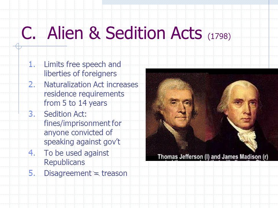 C. Alien & Sedition Acts (1798)
