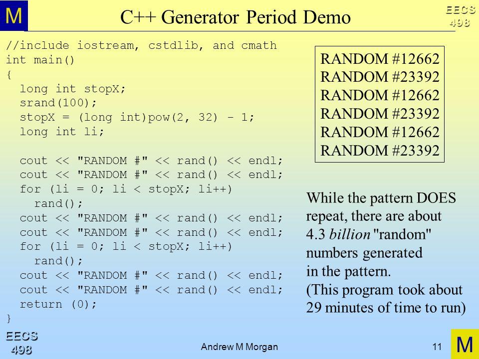 C++ Generator Period Demo