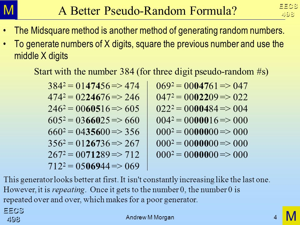 A Better Pseudo-Random Formula
