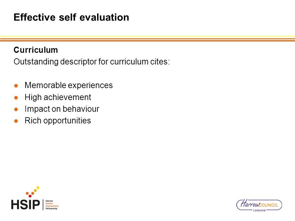 Effective self evaluation
