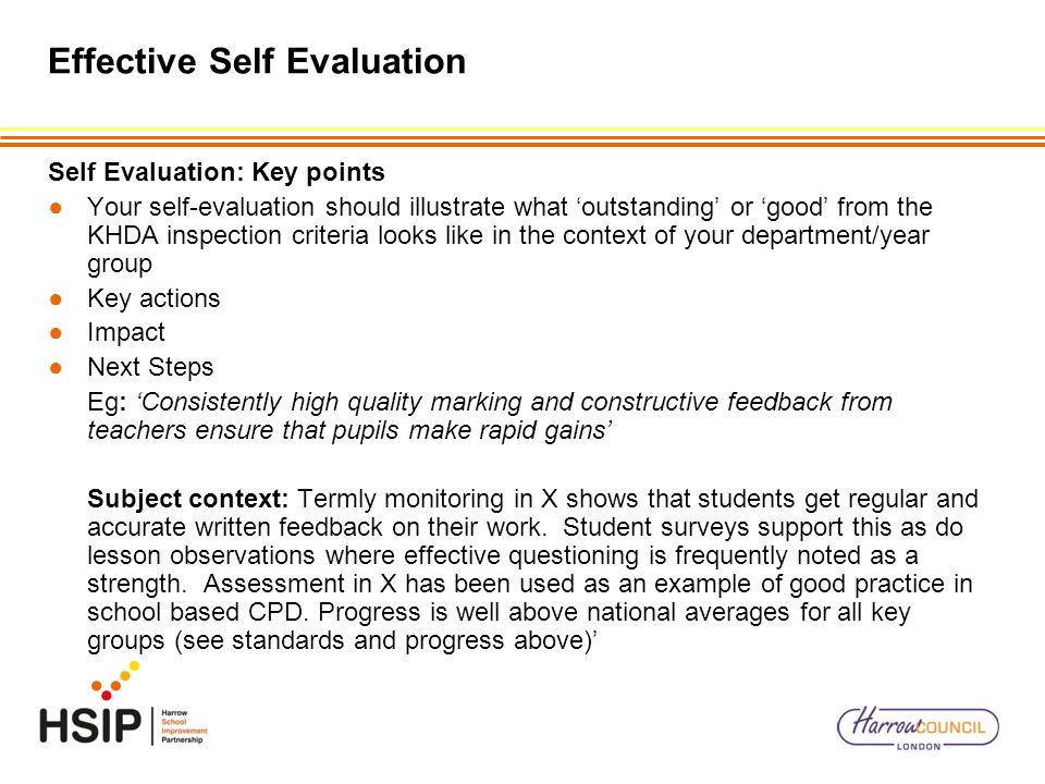 Effective Self Evaluation – Writing A Good Sef - Ppt Video Online