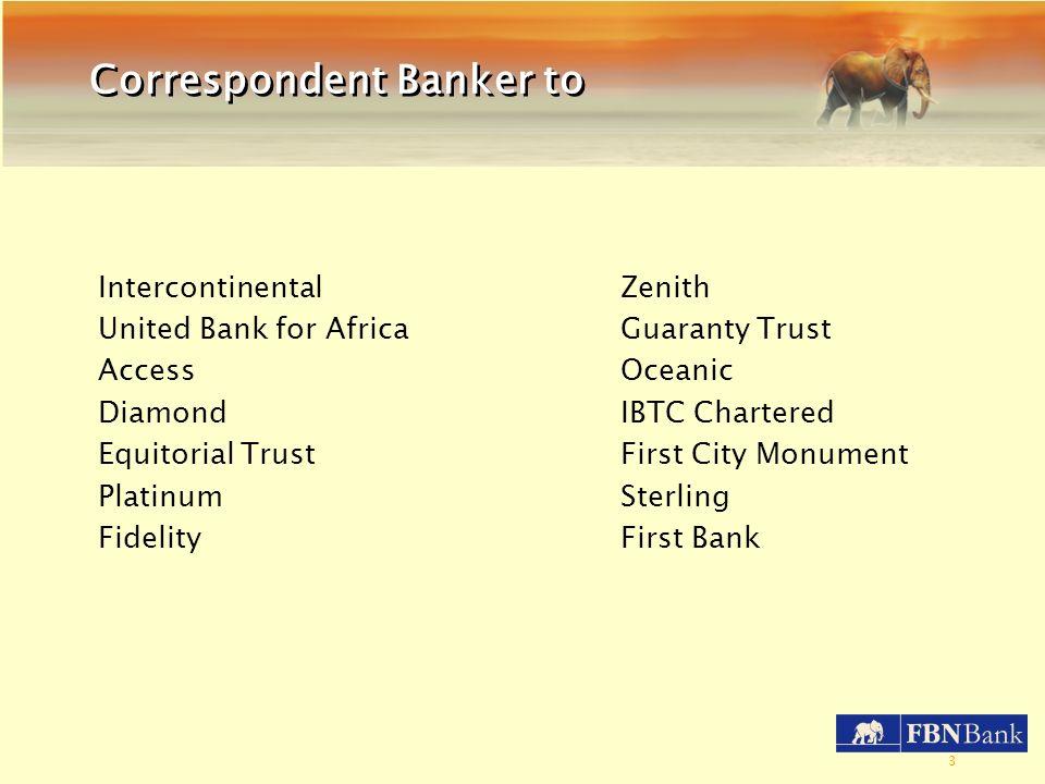 Correspondent Banker to