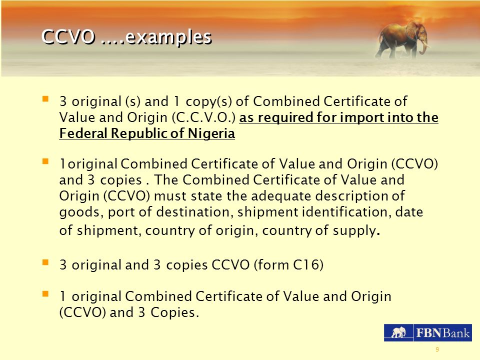 CCVO ….examples