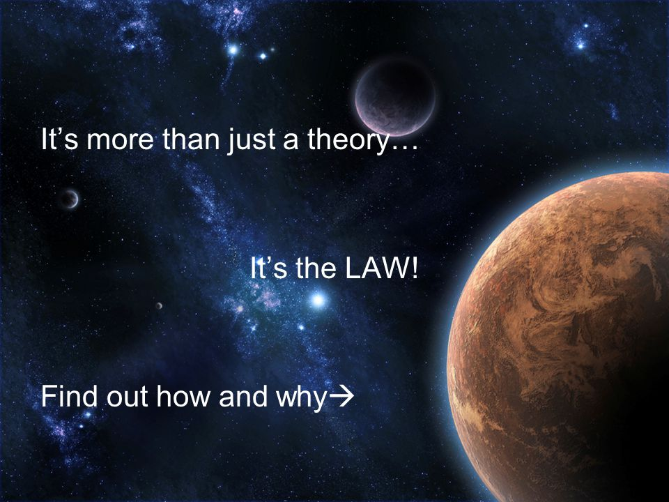It's more than just a theory…