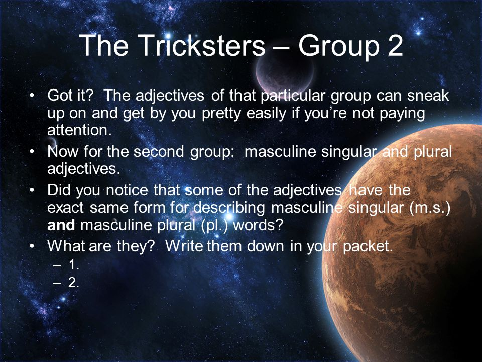 The Tricksters – Group 2