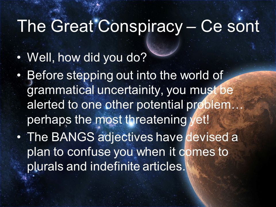 The Great Conspiracy – Ce sont