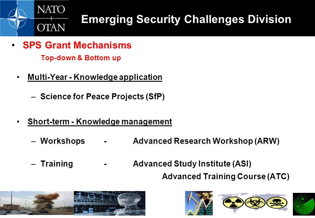 SPS Grant Mechanisms Top-down & Bottom up