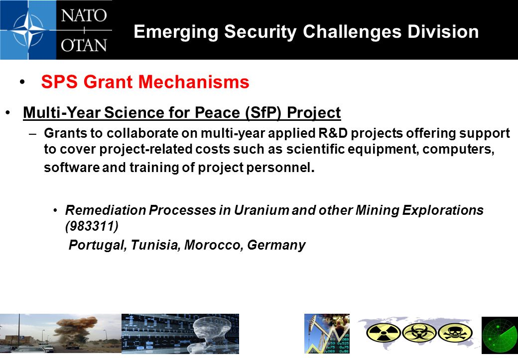 SPS Grant Mechanisms Multi-Year Science for Peace (SfP) Project