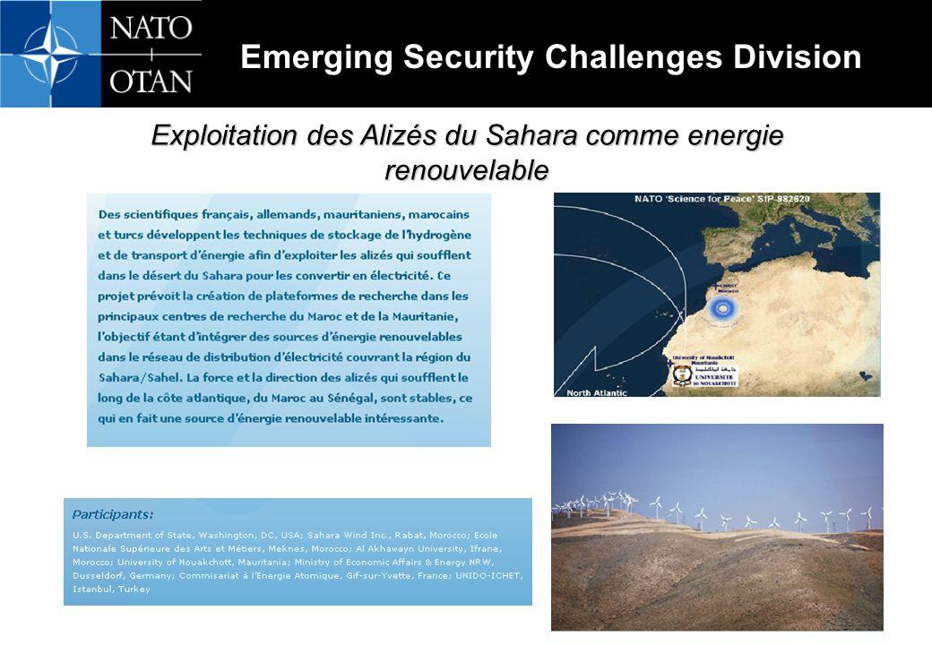 Exploitation des Alizés du Sahara comme energie renouvelable