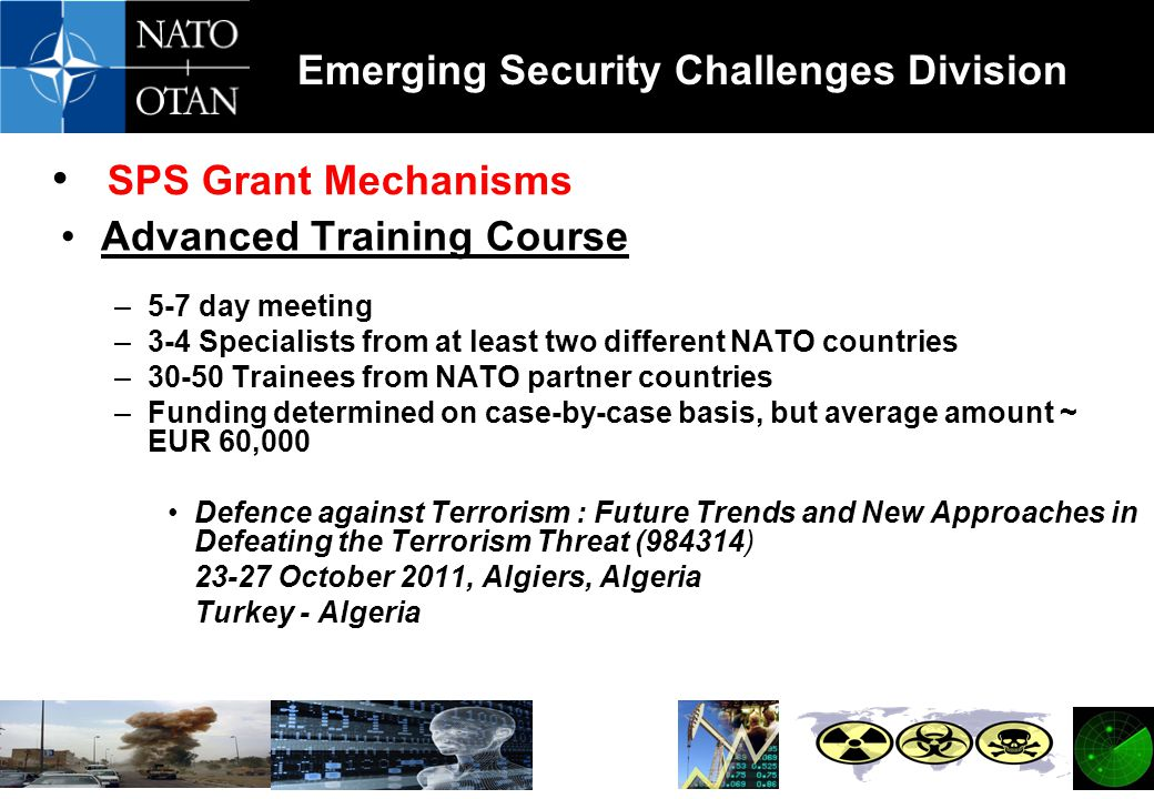 SPS Grant Mechanisms Advanced Training Course 5-7 day meeting