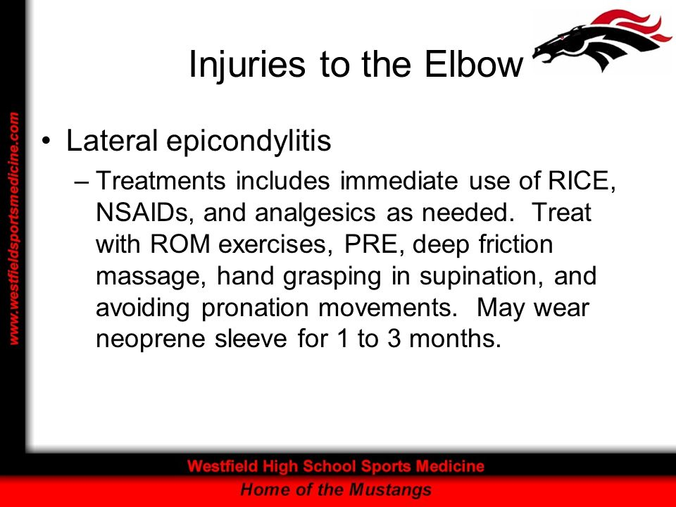 Injuries to the Elbow Lateral epicondylitis