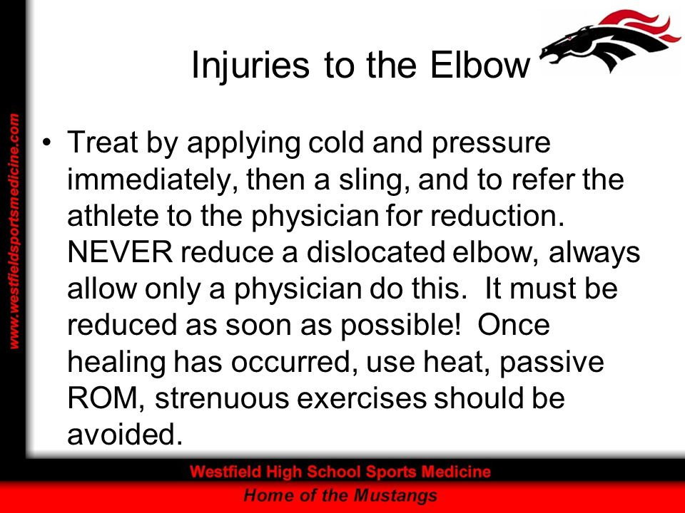 Injuries to the Elbow