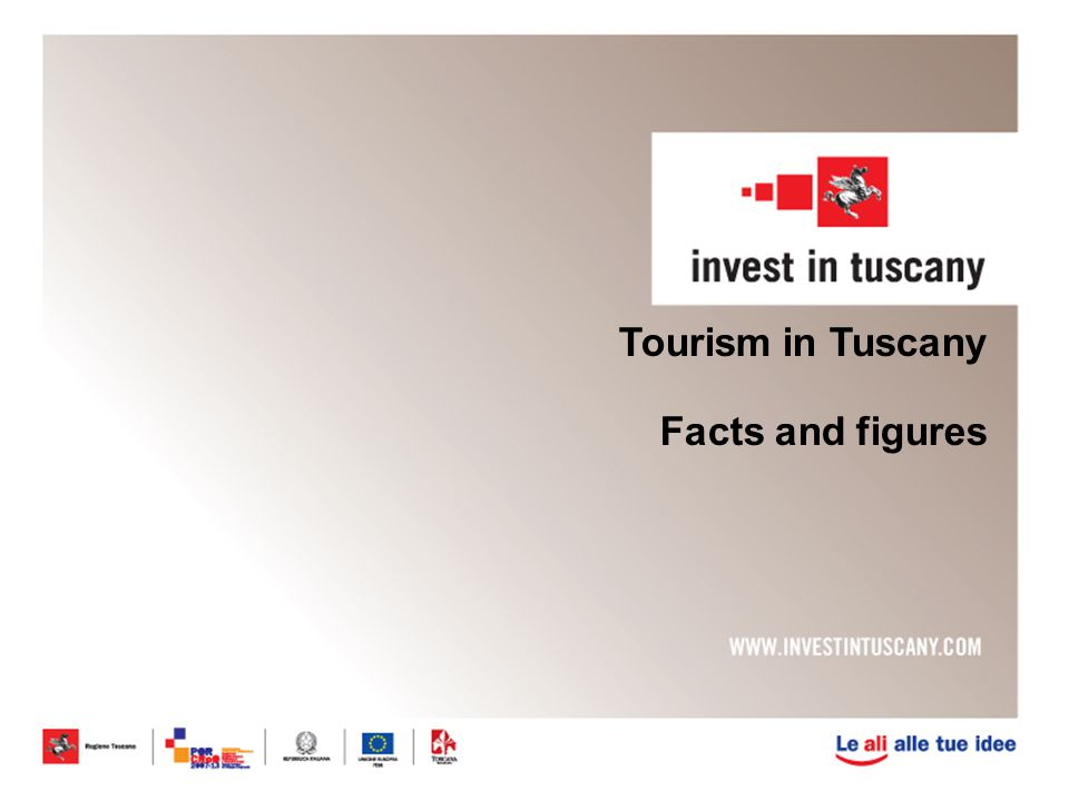 Tourism in Tuscany Facts and figures