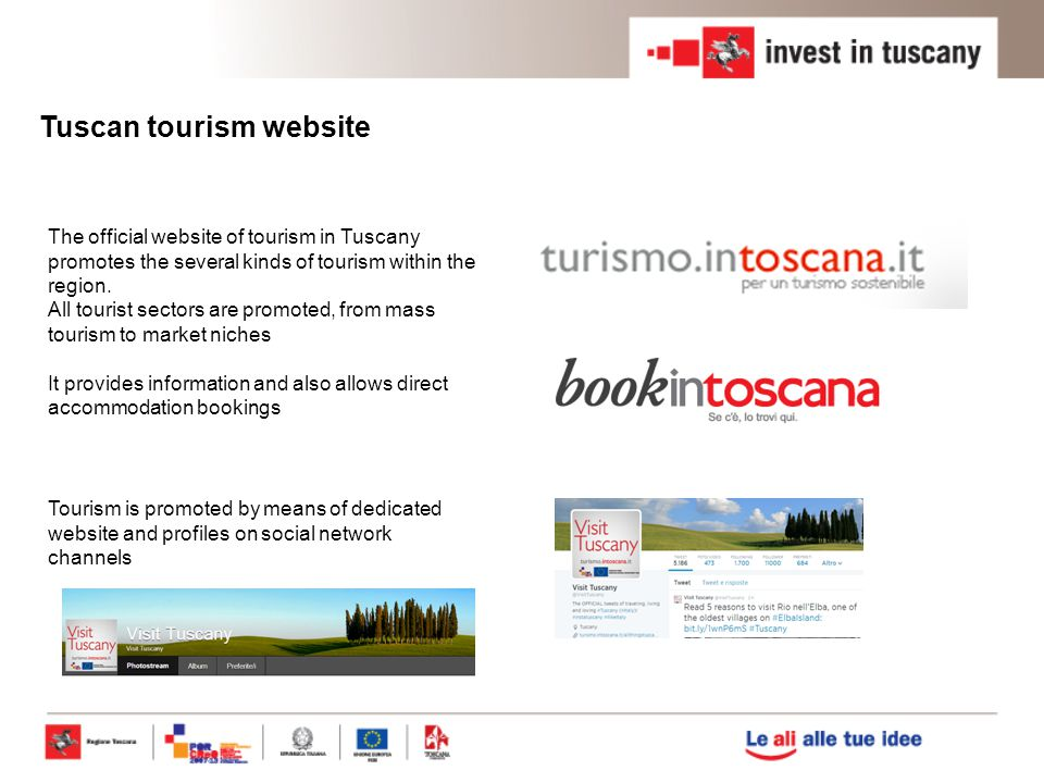 Tuscan tourism website