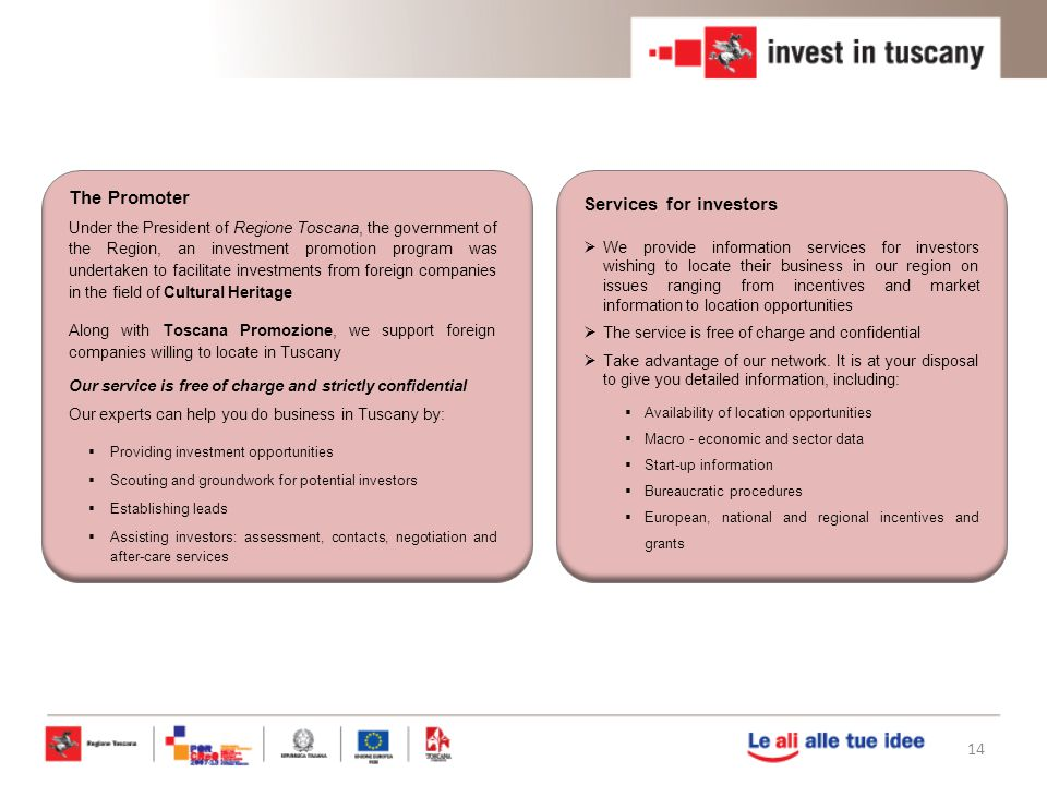 Services for investors