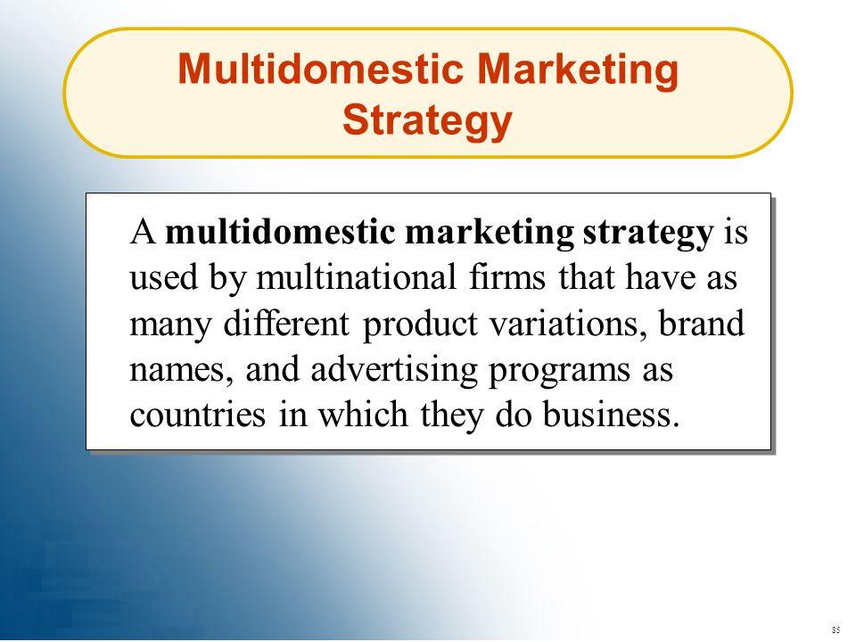 Multidomestic Marketing Strategy