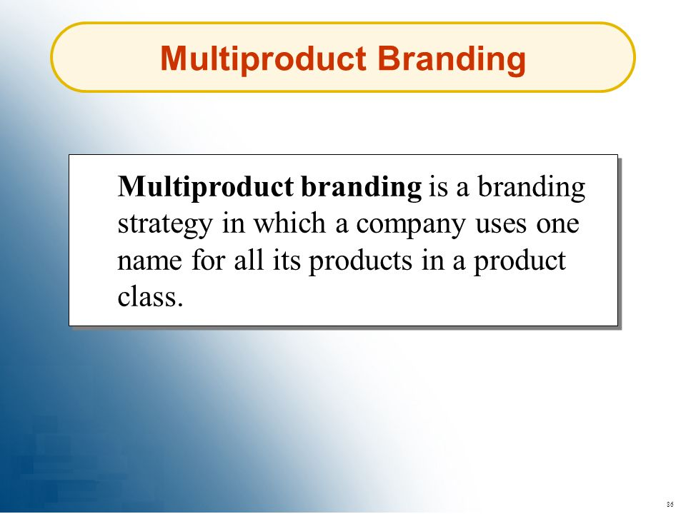 Multiproduct Branding