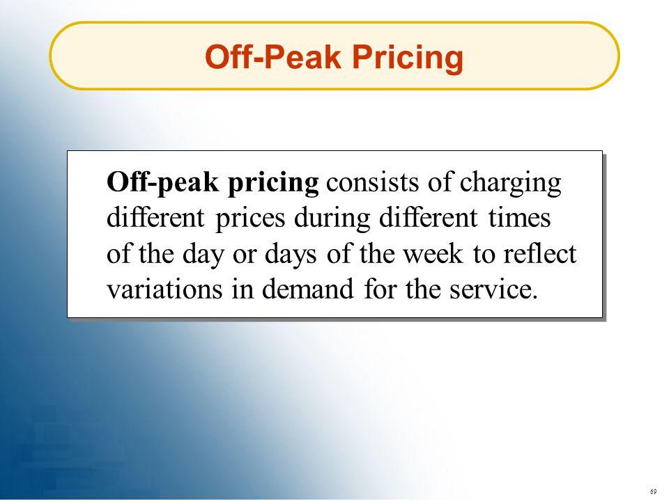 Off-Peak Pricing
