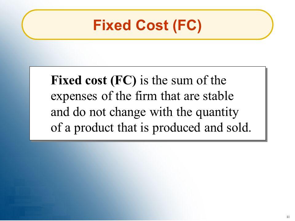 Fixed Cost (FC)