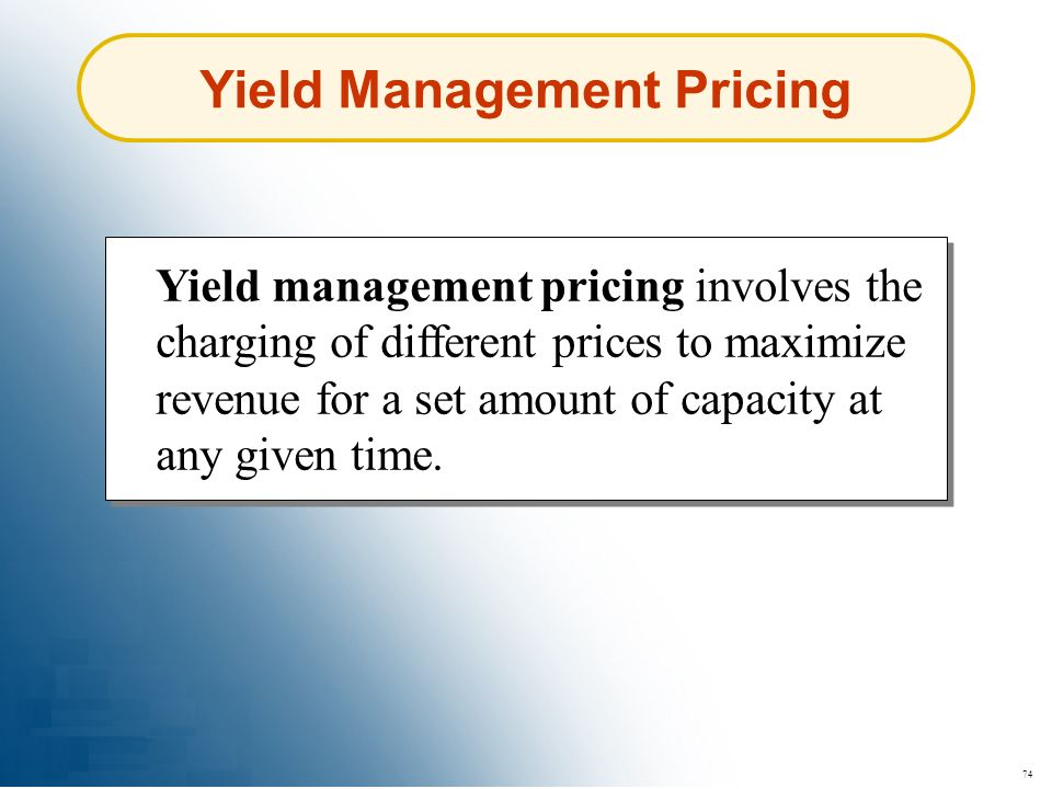Yield Management Pricing
