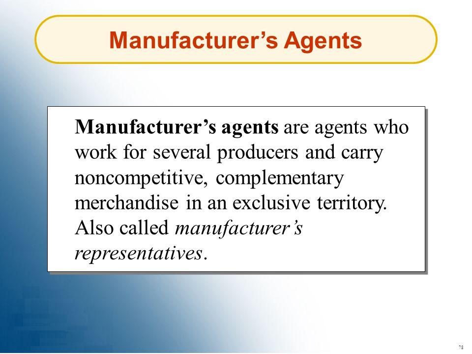 Manufacturer's Agents
