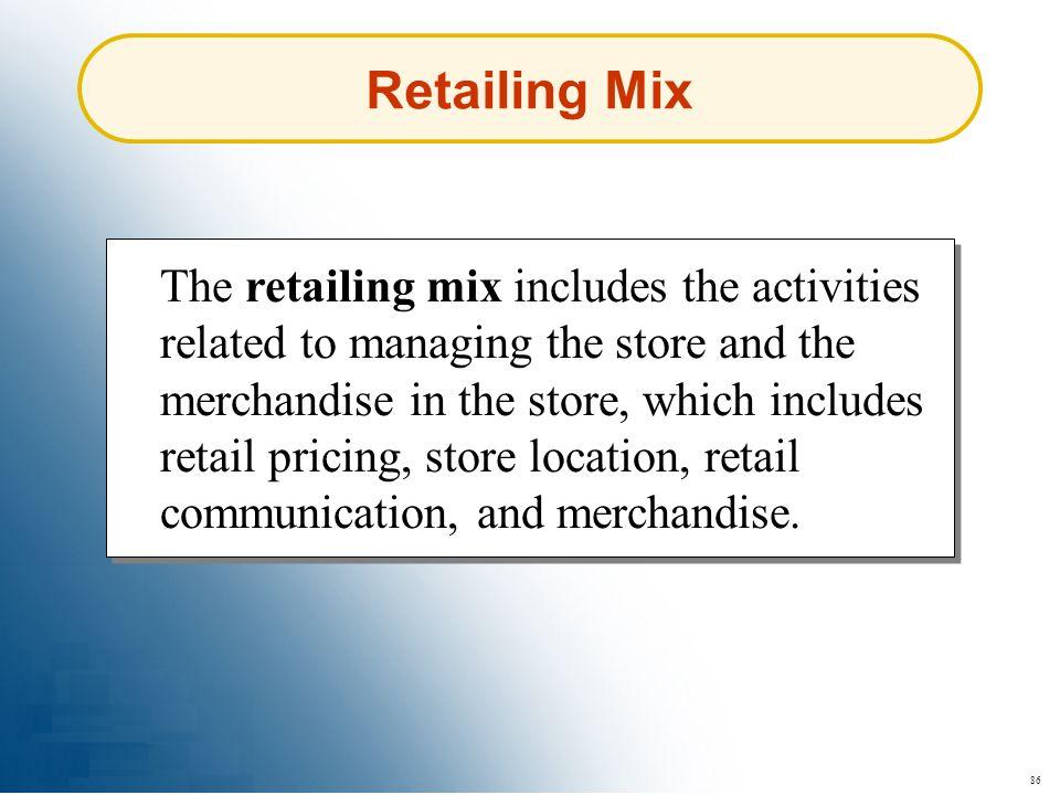 Retailing Mix