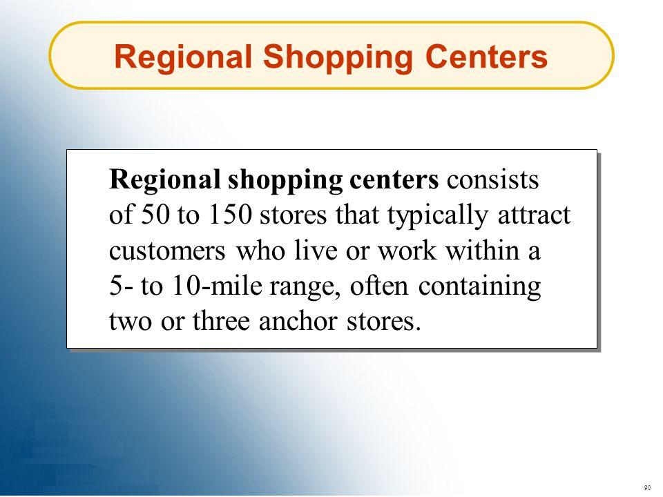 Regional Shopping Centers