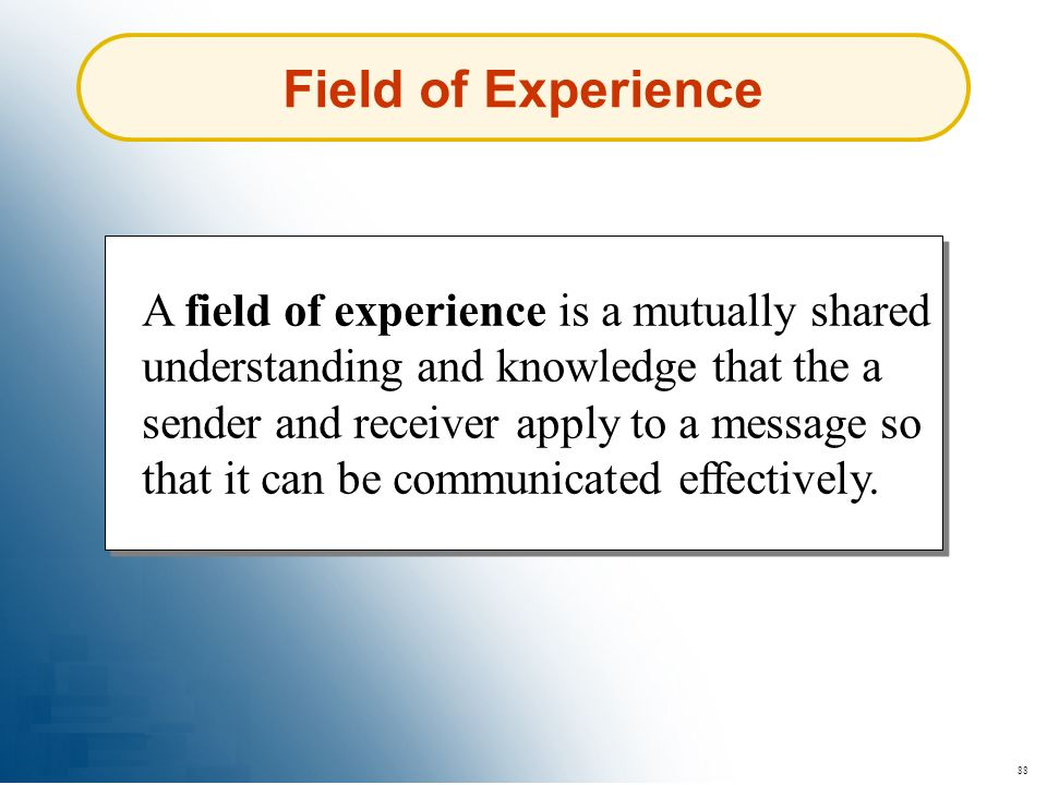 Field of Experience