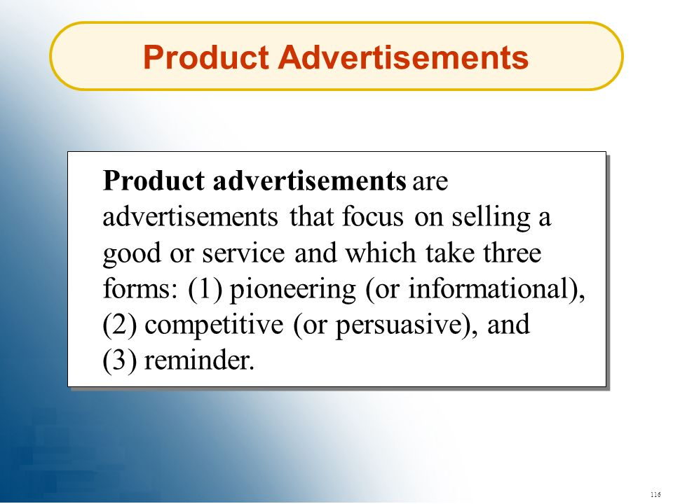 Product Advertisements