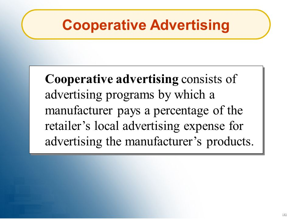 Cooperative Advertising