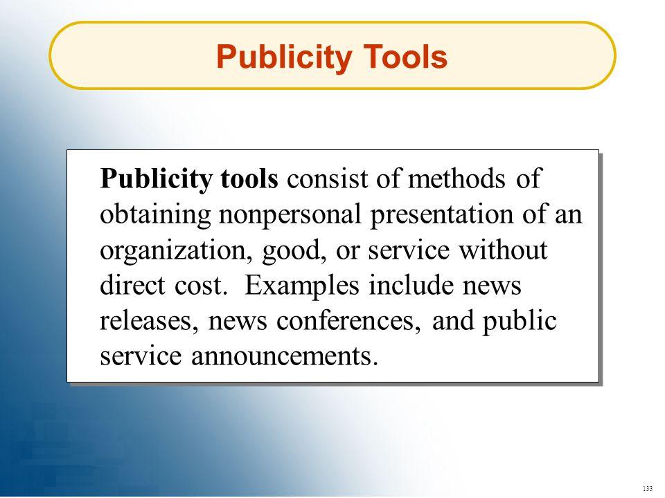 Publicity Tools