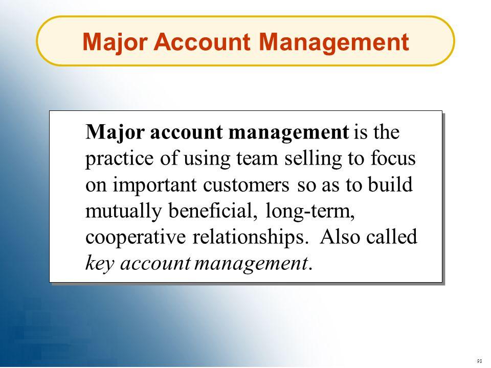 Major Account Management