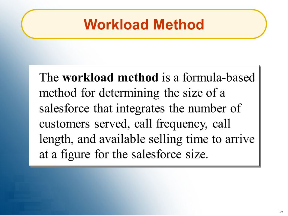 Workload Method