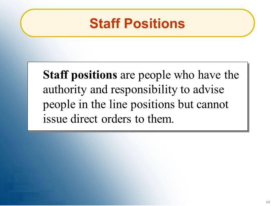 Staff Positions