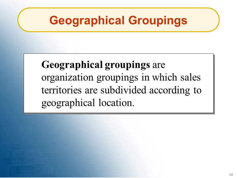Geographical Groupings